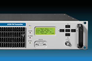 AXON es un transmisor y excitador FM estéreo compacto profesional de estado sólido con codificador dinámico RDS y conectividad HTML5 WEB TCP / IP y SNMP para audio de acceso remoto