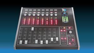 consola mezclador de audio