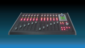 Acuo912 console mixage de audio teko broadcast miniature