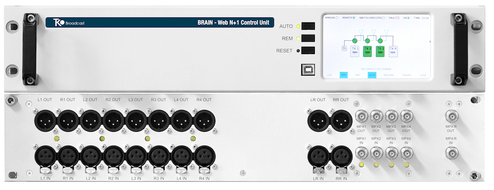 Commutateurs RF N+1 Changement Automatique WCU 6+1 et MTX AUD 6+1 N+1 Entièrement Web et SNMP WEB Control Unit System