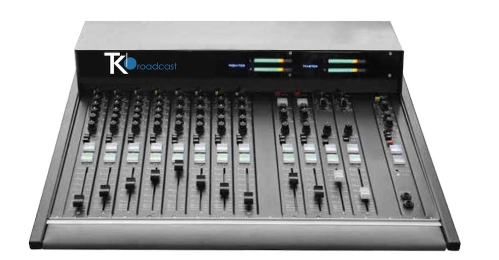 console mixage de audio M16 teko broadcast front