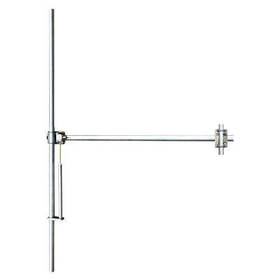 Antenne FM Aluminium-Large Bande 88-108 Mhz, polarisation dipolaire verticale, puissance d'entrée max 800W, connecteur d'entrée N femelle, Supports inclus - Gain 2dB