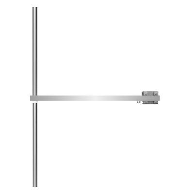 Antena dipolo FM Banda ancha de acero inoxidable 88-108 Mhz, polarización vertical dipolo, potencia máxima de entrada 800W, conector de entrada N hembra, soportes incluidos-Ganancia