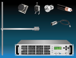 Package  1,2kW FM Transmitter with 1 bay Dipole FM Antenna and Accessories - Wide Band - Stainless
