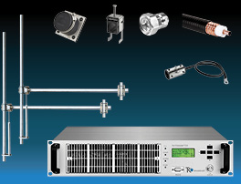 Package  1,2kW FM Transmitter with 2 bay Dipole FM Antenna and Accessories - Wide Band - Aluminum