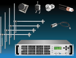 Package  1,2kW FM Transmitter with 4 bay Dipole FM Antenna and Accessories - Wide Band - Aluminum