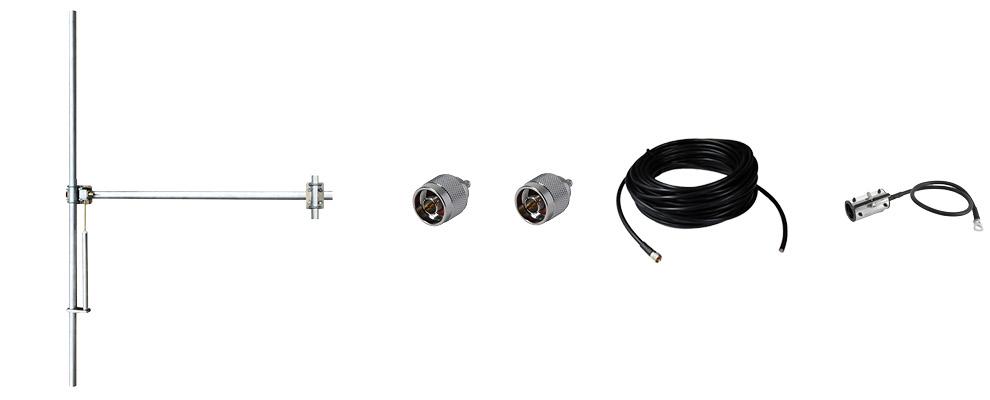 paquet 1 baie dipôle fm antenne et accessoires large bande aluminium max puissance 800w