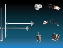 paquet 2 baies dipôle fm antenne et accessoires large bande aluminium max puissance 1,5kw