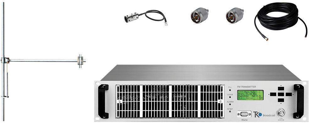 paquet 300w émetteur fm avec 1 baie dipôle fm antenne y accessoires large bande aluminium