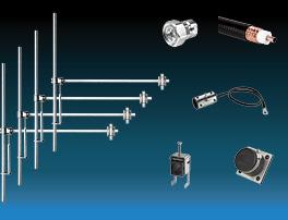paquet 4 baies dipôle fm antenne et accessoires large bande aluminium max puissance 3kw