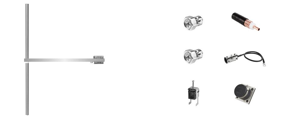 paquete 1 bay dipolo fm antena y accesorios ancha banda inoxidable máx potencia 2500w