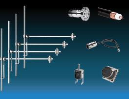 paquete 4 bays dipolo fm antena y accesorios ancha banda aluminio máx potencia 5kw