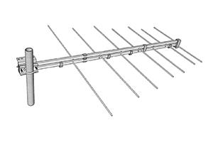 stl antenne pour liaison faisceau log 174mhz 240mhz miniature