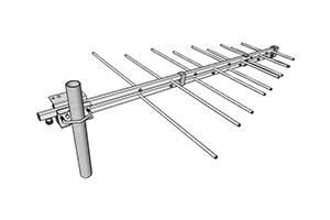 stl antenne pour liaison faisceau log 230mhz 470mhz miniature