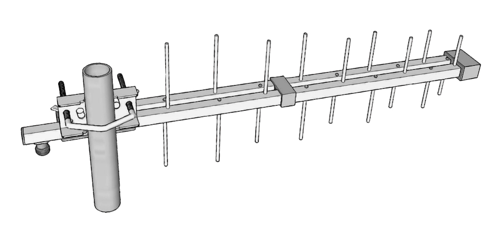 stl antenne pour liaison faisceau log 790mhz 960mhz 990