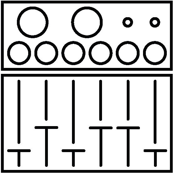 mezclador de audio consola